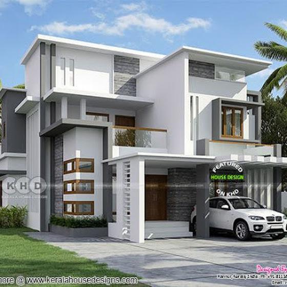 2364 sq-ft 4 bedroom box model contemporary home