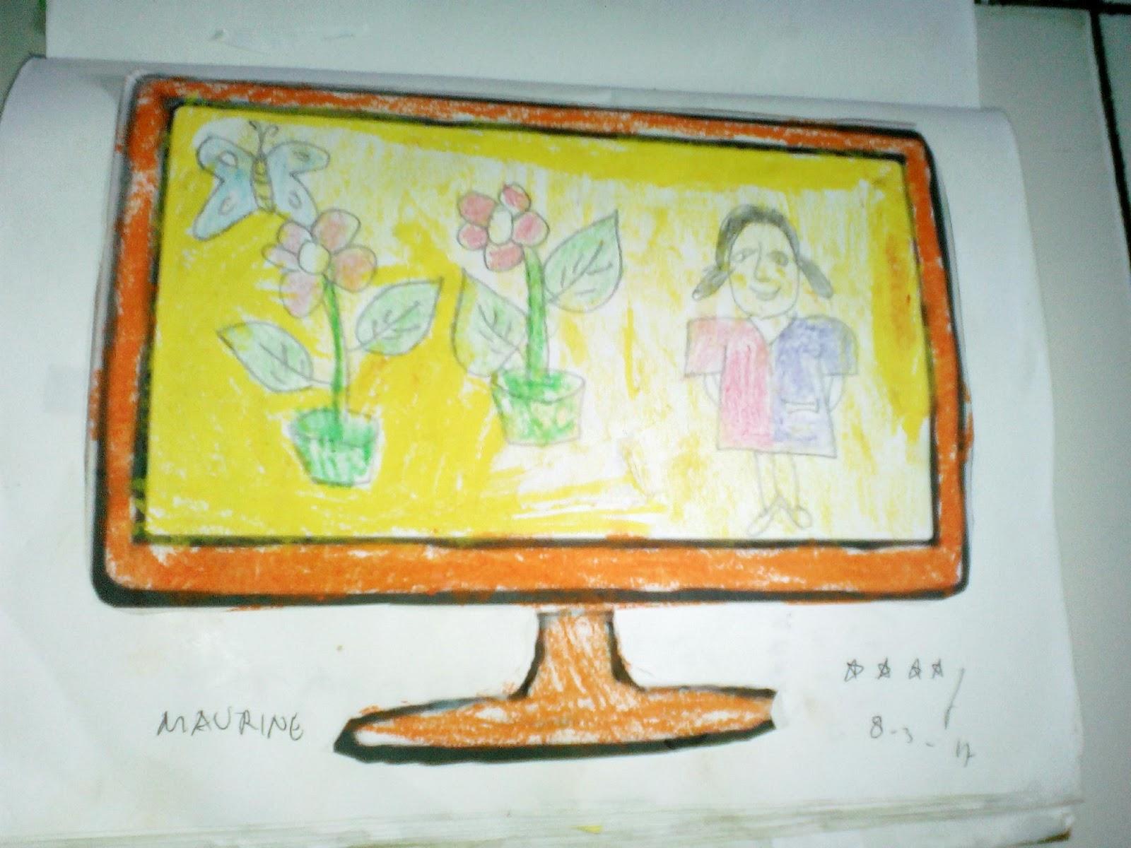 Mewarnai Menggunting Menempel Gambar Televisi Tk Islam Miftahul