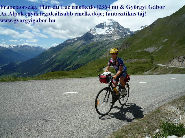 Györgyi Gábor & Francia Alpok kerékpártúra, Plan du Lac, 2361 m