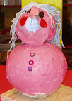 Pink Roly Poly Lady by Elizabeth