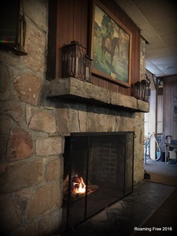 Fireplace at Skyland Lounge