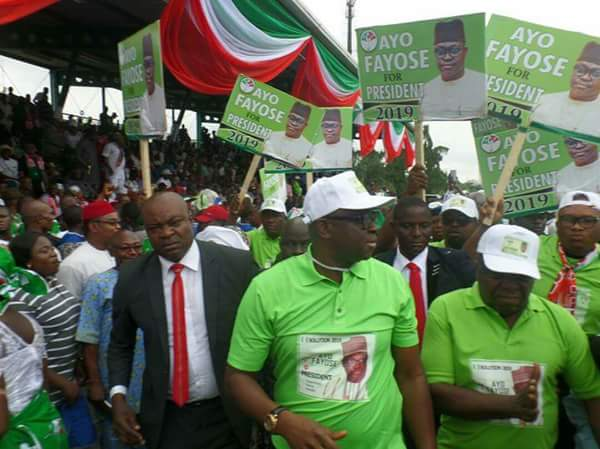 Governor Fayose's Supporters Display His Presidential Aspiration Posters And Banners In Abuja (Photos)