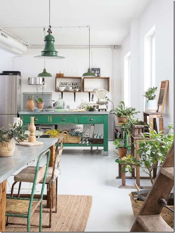 casa-loft-stile-boho-chic- industriale (1)