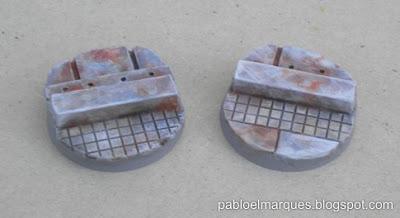 Peanas 'Metalik' 25mm ejemplo de pintura