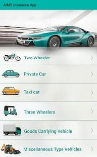 Aims Insurance App - náhled