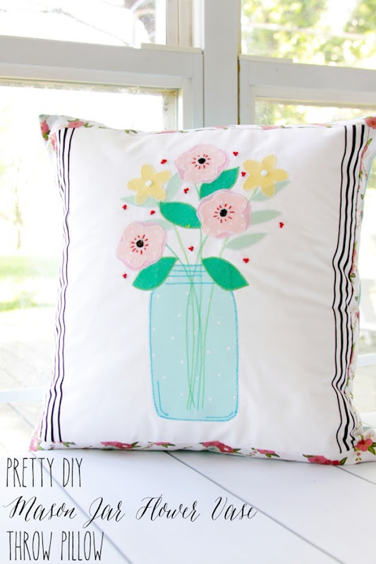 Pretty-DIY-Mason-Jar-Flower-Vase-Pillow