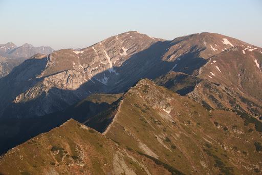 Červené vrchu z Kasprovho vrchu