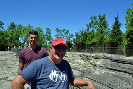 Checking out the glacial grooves