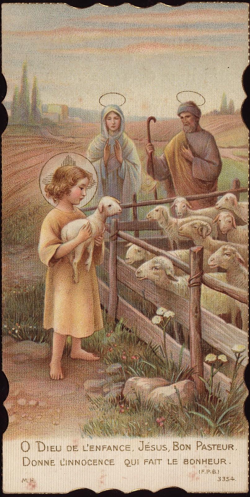 God of childhood jesus good shepherd