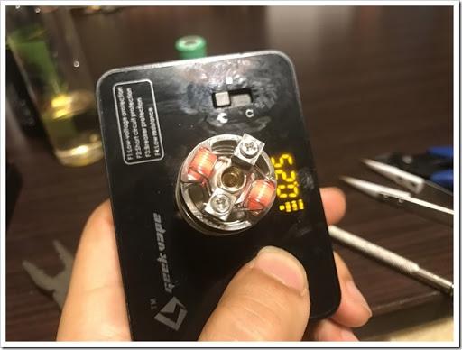 IMG 3107 thumb - 【味出ます】AUGVAPE MerlinRDTAの紹介レビュー!なにこれ怖いってレベルの爆煙!そりゃ0.2Ωで組んだら大変なことになるよね~の巻【ミスト超出ます/VAPE/RDTA/電子タバコ】