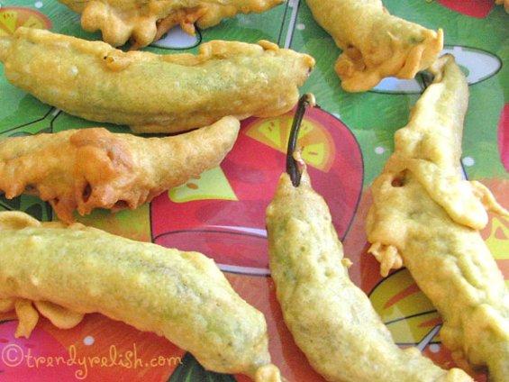Mirapakaaya Bajji (Green Chili Fritters)