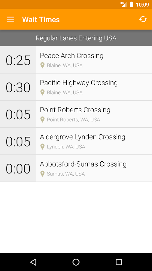 Mr. Border - Border Wait Times- screenshot