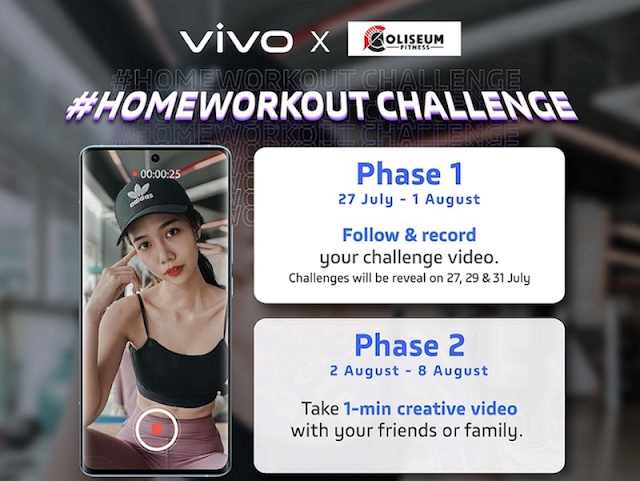 JOIN HOMEWORKOUT CHALLENGE, GET  TO WIN VIVO SMARTPHONE!