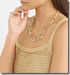 Chan Luu layered gold tone stone necklace