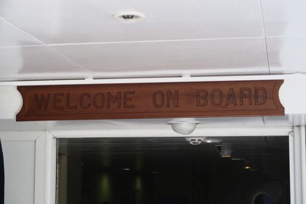 Minerva welcome sign