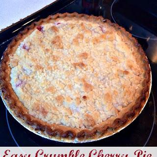 Easy Crumble Cherry Pie