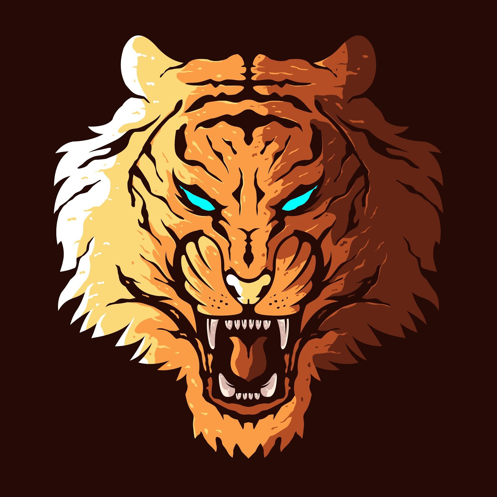 Angry Tiger Head Free Download Vector CDR, AI, EPS and PNG Formats