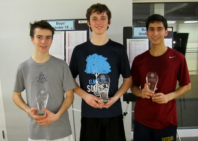 BU 17: Finalist - James Bell (Boston, MA); Champion - Jack Bell (Wellesley, MA); 3rd Place - Neel Das (Needham, MA)