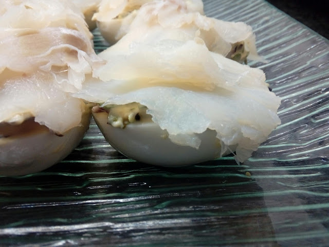Huevos Rellenos Con Bacalao Ahumado