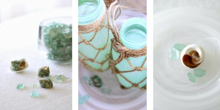 Green Glass Coastal Decor