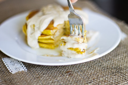 Pumpkin-Spice-Pancakes-with-Cream-Cheese-Maple-Icing-4