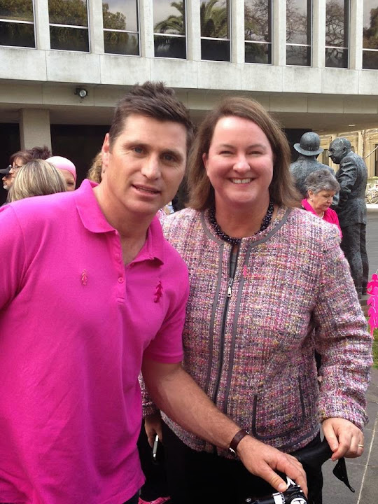With Shane Crawford, supporting BCNA