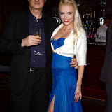 WWW.ENTSIMAGES.COM -  Stephen Colegrave Author of Punk and Film Producer and Lana Holloway   at    Lana Holloway - birthday party at Avista Bar, The Millennium Hotel Mayfair, London December 16th 2013                                                   Photo Mobis Photos/OIC 0203 174 1069