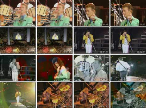 Queen y David Bowie con Under pressure
