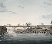 Union Bridge, Chaudiere Falls, Ottawa River. After 1827
