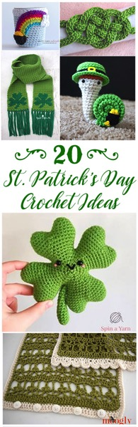 20 Crocheted Project Ideas for St. Patrick's Day. From amigurmi and dolls to scarves and hats, there is something for everyone on this list!