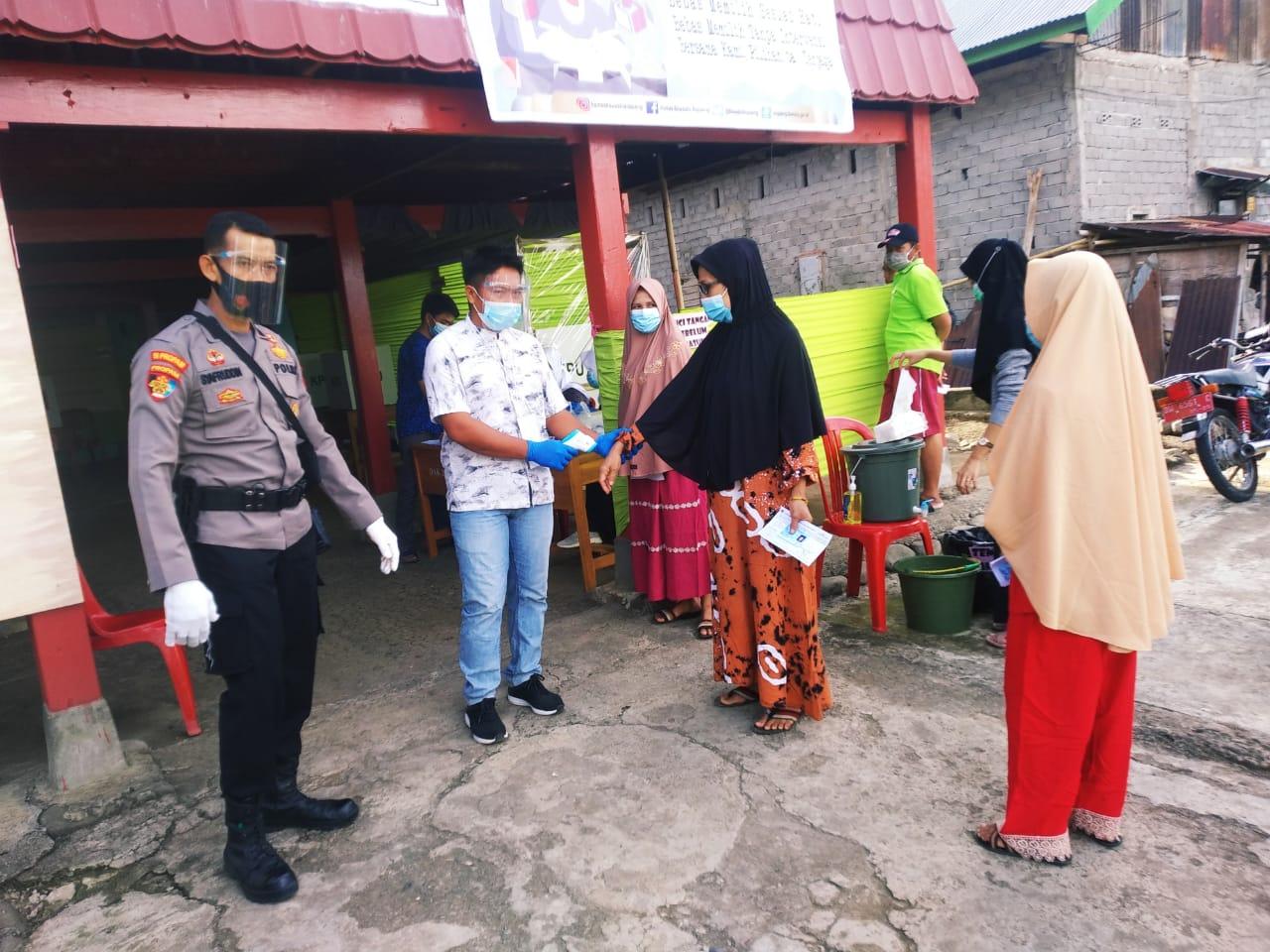 Pengamanan TPS, Polres Soppeng Prioritaskan Protokol Kesehatan