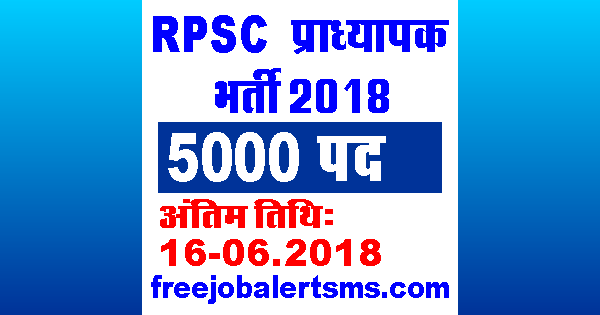 RPSC प्राध्यापक भर्ती 2018