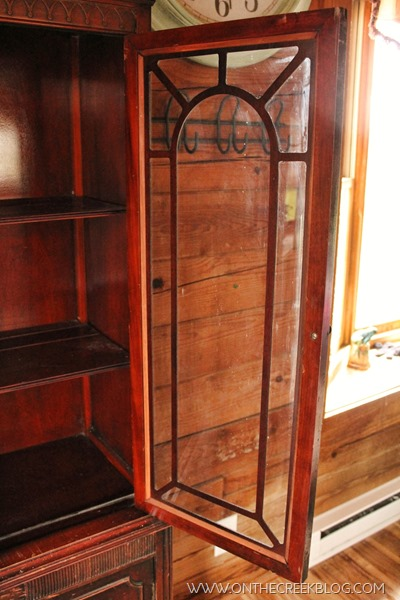 Details of Red hutch from the Habitat For Humanity ReStore!