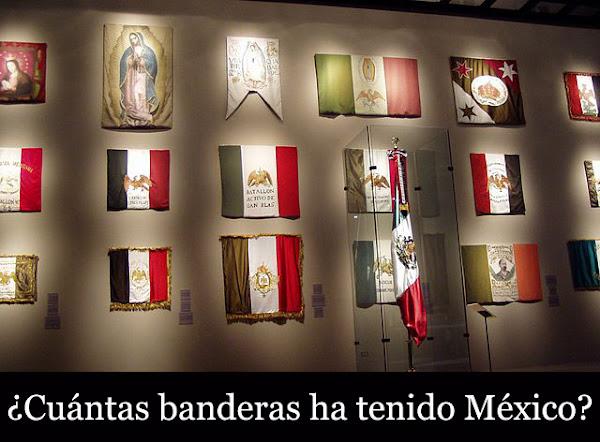 Cuántas banderas ha tenido México