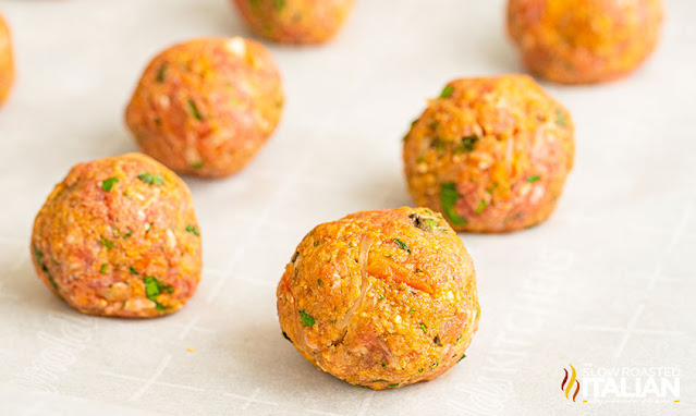 formed meatballs