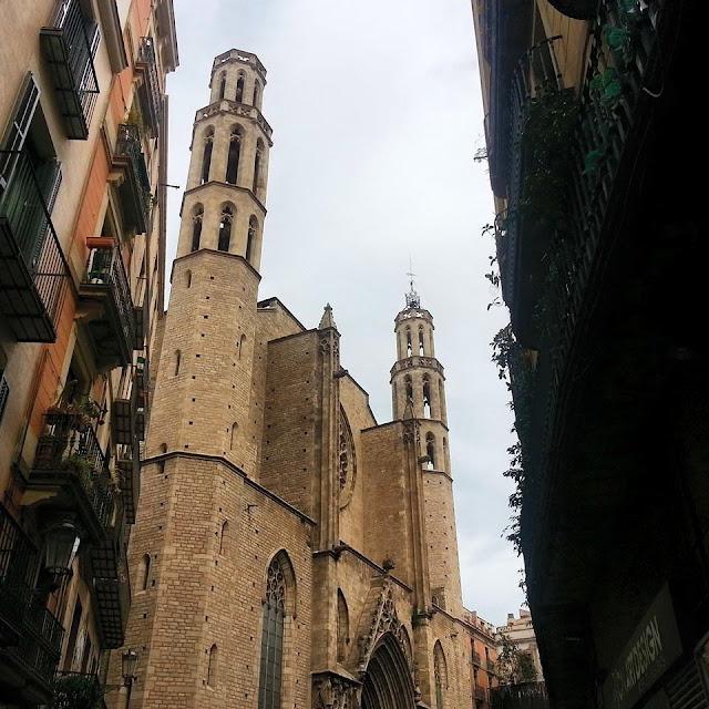 Iglesia Santa María del Mar en Barcelona