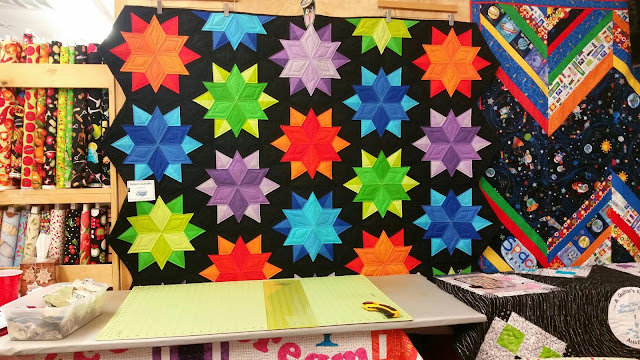 A Quilter's Folly - Star Sample Quilt