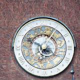 De astronomische klok van het stadhuis van Oslo.