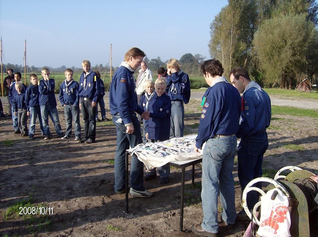 Installatie Bevers, Welpen en Zeeverkenners 2008 - HPIM2161.jpg