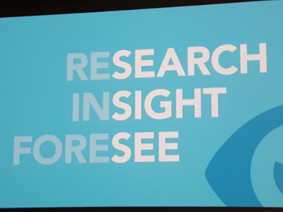 The visual element in 'research', 'insight' and 'foresee'.