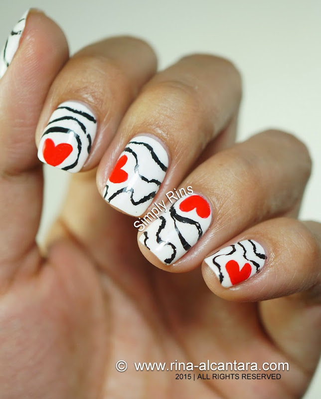 Accidental Love Valentine's Nail Art