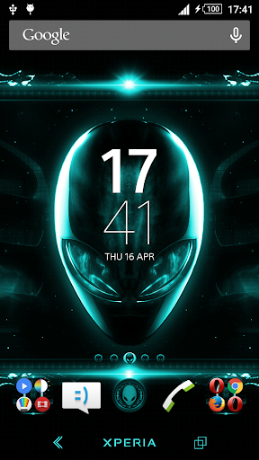 Alien Teal Xperien Theme