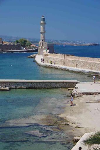 La Canée (Χανιά), vue en direction du phare.