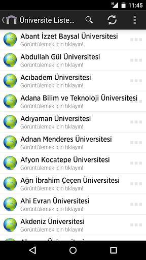 Üniversite Listesi