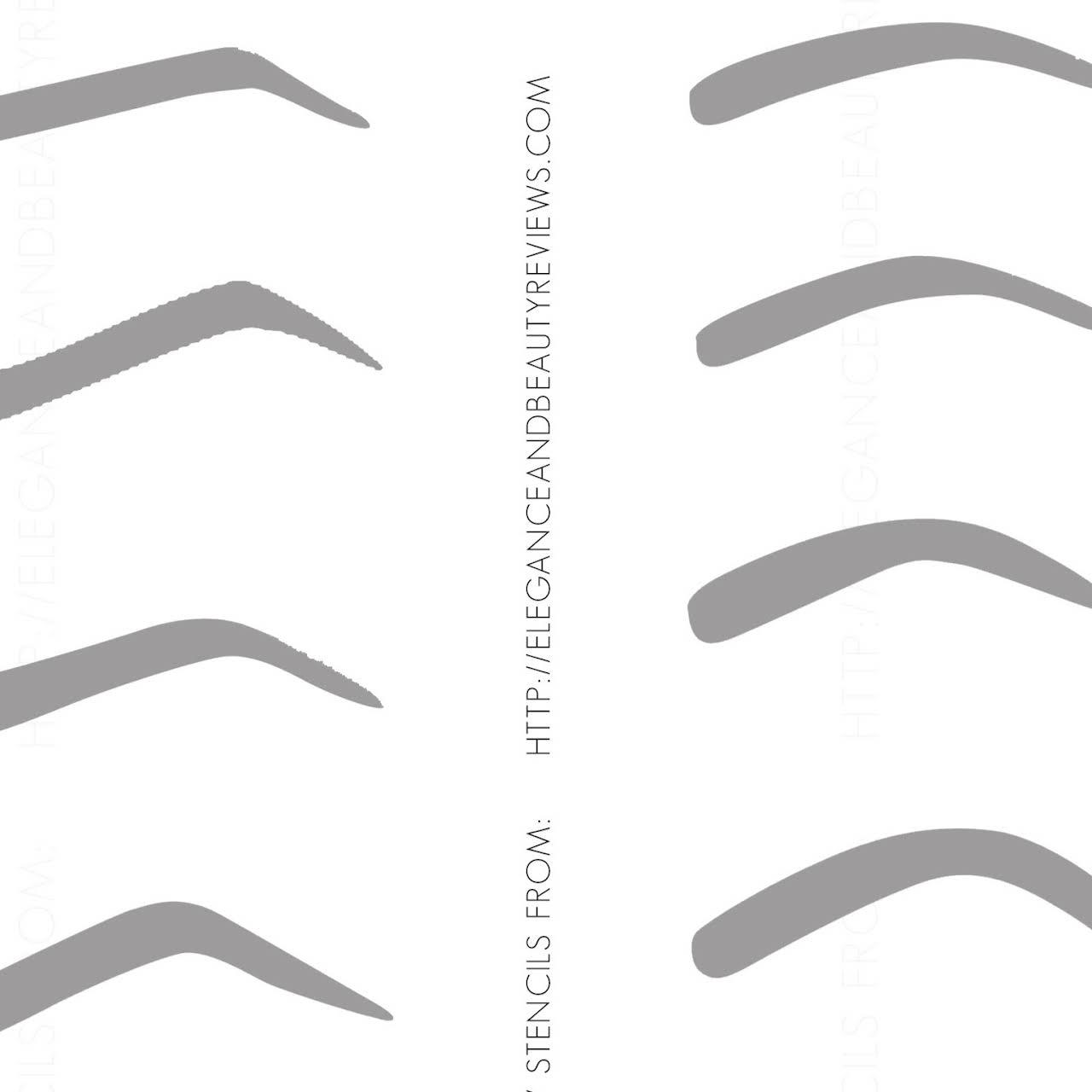 photo regarding Printable Eyebrow Stencils identified as Forehead Salons - Threading Salon within Escondido