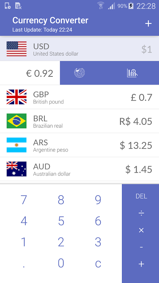 Travel - Currency Converter- screenshot