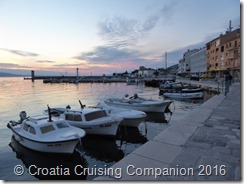 Croatia Cruising Companion - Senj, local boats