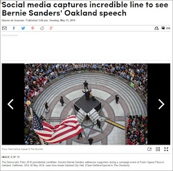 20160531_1542 Social media captures incredible line to see Sanders Oakland speech.jpg