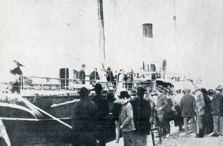 Teoricamente, segun Juan Pou Muntaner, este foto es del vapor IBIZA. No queda duda, si es asi, que antes fue el CORREO DE CARTAGENA. Del libro La Marina en las Baleares.JPG