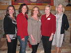 Susan Krall, Denise Riley, Shelley Beall, Marty Koons and Kappa Alpha Theta president Susan Sanders